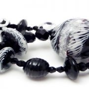 Black and white necklace 60cm