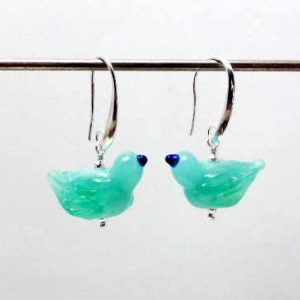 Kryptonite Lam[wrok birdy earrings
