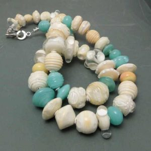 By the Seaside Lampwork Necklace 54cm