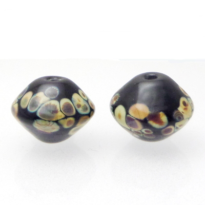 lampwork bicone pair for earrings