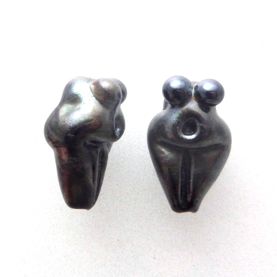 metallic black goddess beads