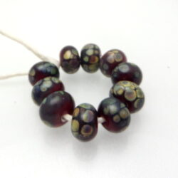 Black raku spacer glass beads