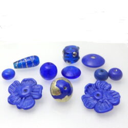 Inspiration Blue Lampwork bead set