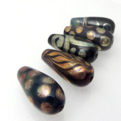gold luster drop beads