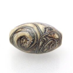 Focal bead with silvered ivory