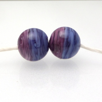 lampwork glass earring twisty pair