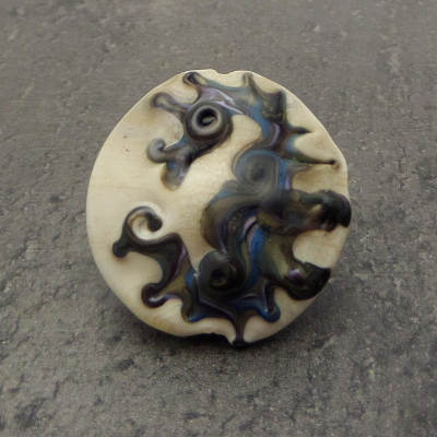 Seahorse focal glass bead