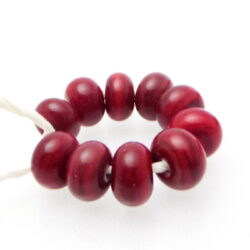 lampwork red spacer glass beads